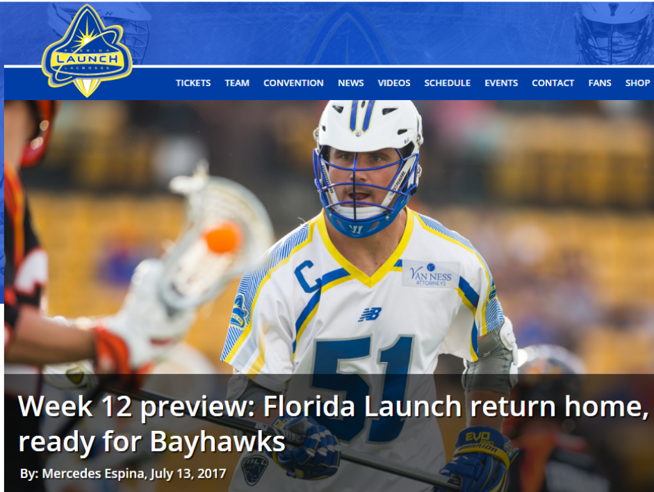 Week 12 Preview: Florida Launch Return Home, Ready for Bayhawks