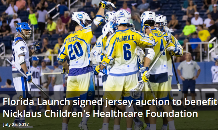 Florida Launch Signed Jersey Auction to Benefit Nicklaus Children's Healthcare Foundation
