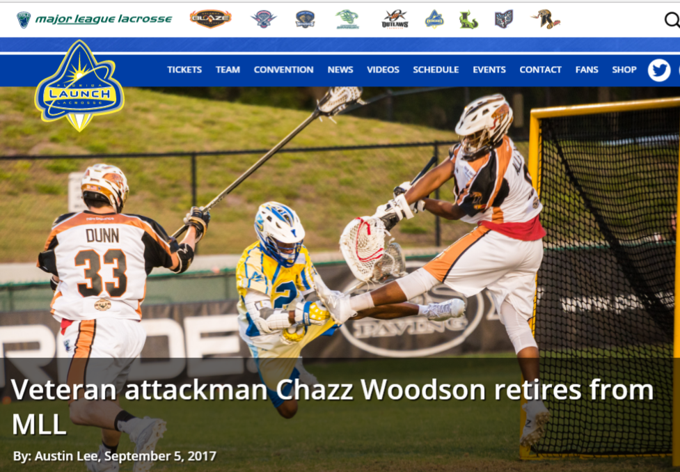 Veteran Launch Attackman Chazz Woodson Retires From MLL