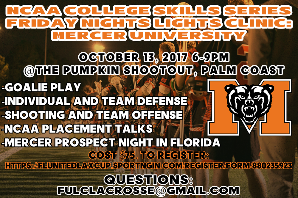 Florida United Lacrosse Hosts Players for Annual Pumpkin Shootout in Palm Coast, FL