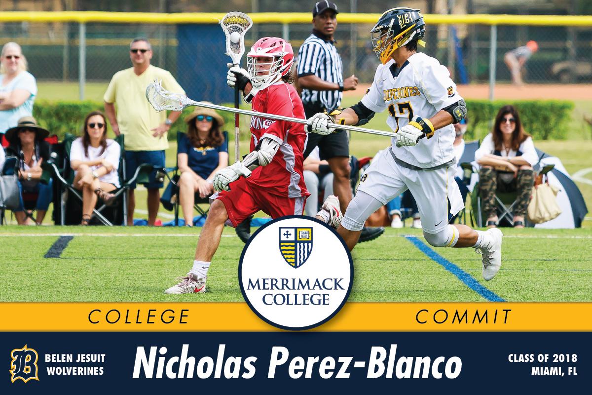Belen Jesuit 2018 Nico Perez-Blanco Commits to Merrimack College!