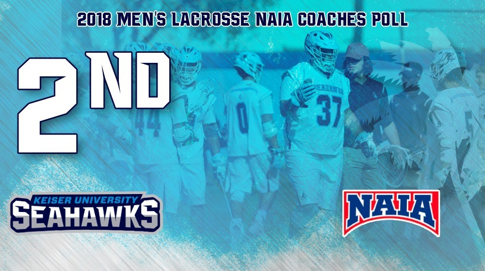 Keiser:  Men's Lacrosse Opens The Year Ranked #2!