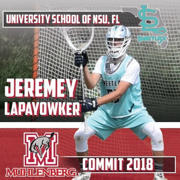 NSU University 2018 G Jeremy Lapayowker Commits to Muhlenberg University!