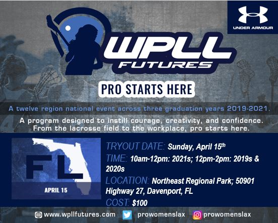 Sarah Burlingame Named Florida WPLL Futures Director, Tryout Scheduled on 4/15 at Northeast Regional Park in Davenport, FL