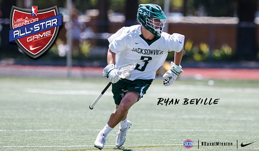 JU Men:  Beville Selected To Play In USILA North-South All-Star Game