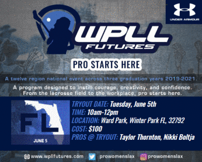 WPLL Futures Rescheduled For June 5th at Ward Park in Winter Park, Florida!