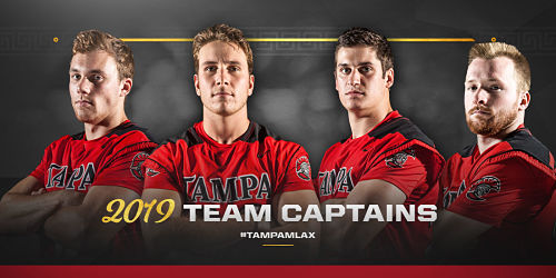 Tampa Men's Lacrosse Announces 2019 Team Captains
