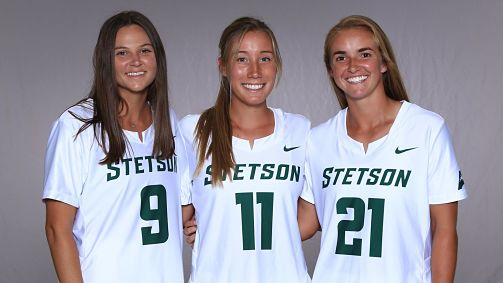 Stetson:  Roe, Trupp and Zuberer Named Lacrosse Captains for 2020